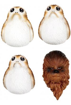 Star Wars Episode VIII Fridge Magnets Chewbacca & Porgs