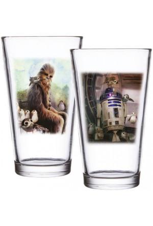 Star Wars Episode VIII Pint Glass 2-Pack Chewbacca & R2-D2
