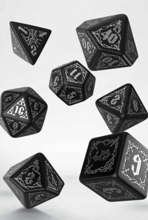 Bloodsucker Dice Set black & silver (7)
