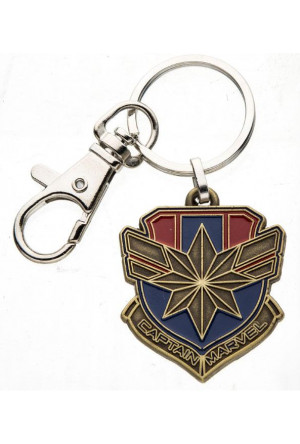 Captain Marvel Metal Keychain Logo