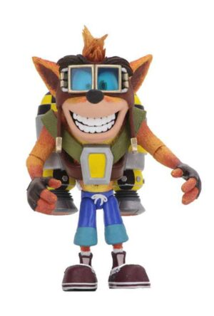 Crash Bandicoot Deluxe Action Figure Crash with Jetpack 14 cm