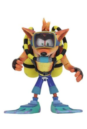 Crash Bandicoot Deluxe Action Figure Scuba Crash 14 cm