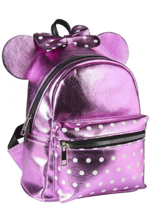 Disney Casual Fashion Backpack Minnie Mouse Pink Bow 22 x 23 x 11 cm
