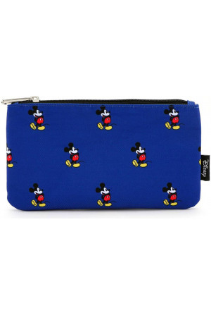 Disney by Loungefly Coin/Cosmetic Mickey Print Blue