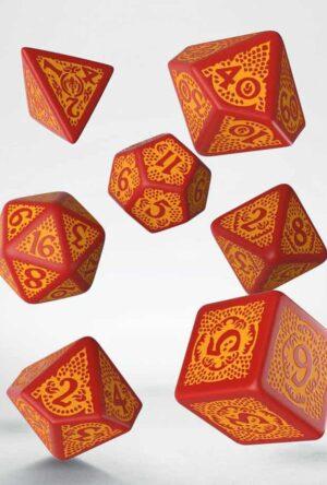 Dragon Slayer Dice Set red & orange (7)