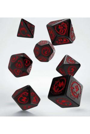Dragons Dice Set black & red (7)