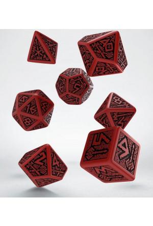 Dwarven Dice Set red & black (7)