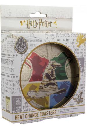 Harry Potter Heat Change Coaster 4-Pack Sorting Hat