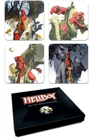 Hellboy Coaster Set Mignolas Classic Watercolors