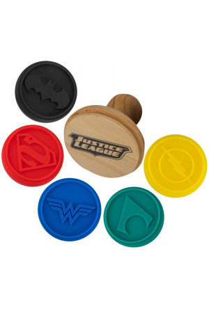Justice League Cookie Stamp Logos