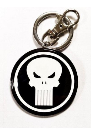Marvel Comics Metal Keychain Punisher Logo