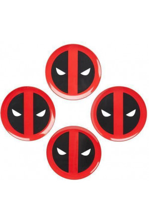 Marvel Plates 4-Pack Deadpool Icon