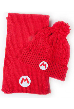 Nintendo Beanie & Scarf Set Super Mario