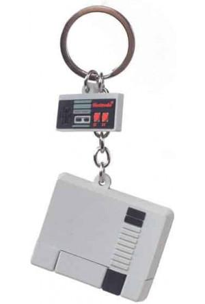 Nintendo Rubber Keychain NES 3D