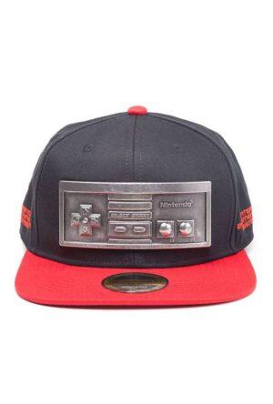 Nintendo Snapback Cap NES Controler Metal Plate