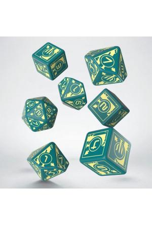 Polaris Dice Set turquoise & light yellow (7)