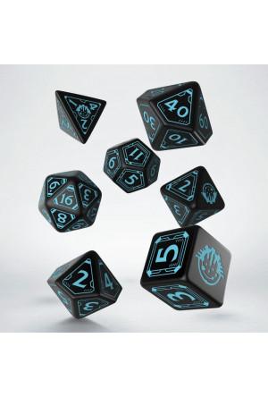 Starfinder Dice Set black & blue (7)