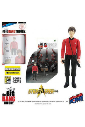 The Big Bang Theory Action Figures with Diorama Set Howard TOS EE Exclusive 10 cm