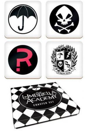 The Umbrella Academy Coaster Set Logos