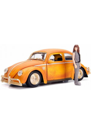 Transformers Bumblebee Diecast Model 1/24 Volkswagen Beetle with Figure