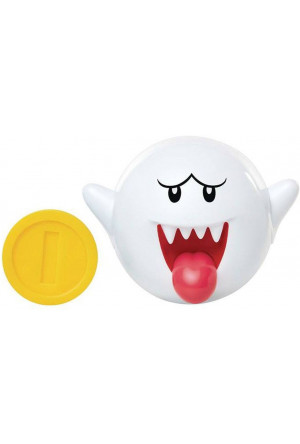 World of Nintendo Action Figure Boo with Coin 6 cm
