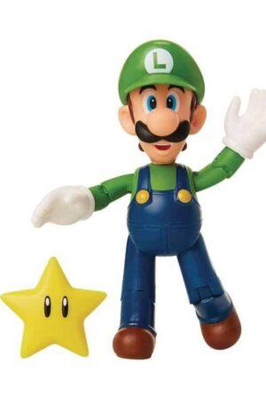 World of Nintendo Action Figure Luigi with Super Star 10 cm