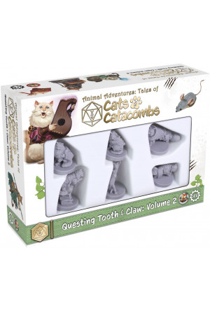 Animal Adventures Cats & Catacombs: Questing Tooth & Claw Miniatures 6-pack Volume 2 english