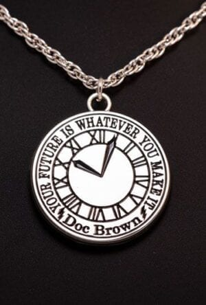 Back to the Future Necklace Clock