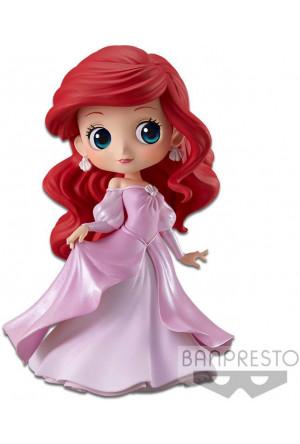 Disney Q Posket Mini Figure Ariel Princess Dress B (Pink Dress) 14 cm