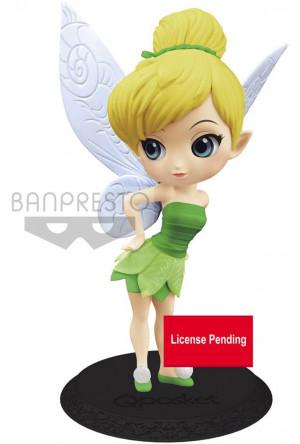 Disney Q Posket Mini Figure Tinker Bell Leaf Dress Ver. A 14 cm