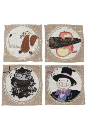 Howl's Moving Castle Coaster 4-Pack Characters