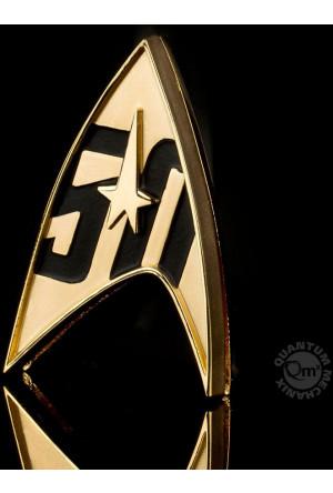 Star Trek Replica 1/1 50th Anniversary Magnetic Starfleet Badge