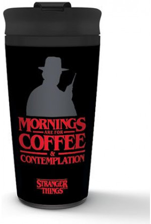 Stranger Things Travel Mug Coffee and Contemplation