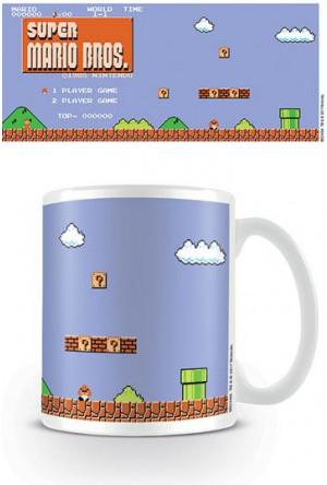 Super Mario Bros. Mug Retro Title