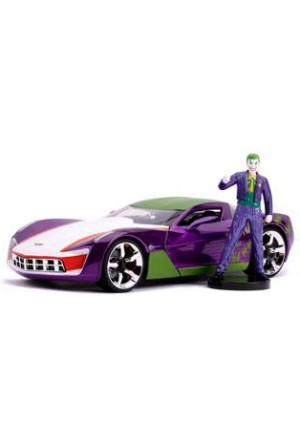DC Comics Diecast Model 1/24 2009 Chevy Corvette Stingray with Figure
