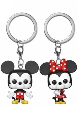 Disney Pocket POP! Vinyl Keychain 2-Pack Mickey & Minnie 4 cm