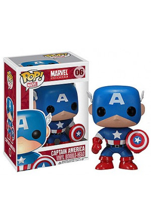 Marvel Comics POP! Vinyl Bobble-Head Captain America 10 cm