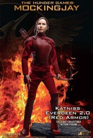 The Hunger Games Mockingjay Part 1 MFM Action Figure 1/6 Katniss Everdeen Red Armor Ver. 30 cm