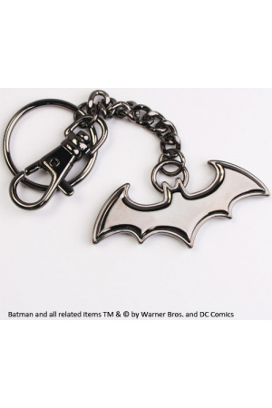 Batman Metal Key Ring Black Logo
