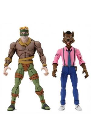 Teenage Mutant Ninja Turtles Action Figure 2-Pack Rat King & Vernon 18 cm