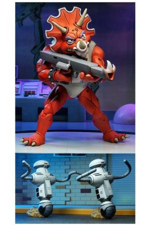 Teenage Mutant Ninja Turtles Action Figures 3-Pack Triceraton Infantryman & Roadkill Rodney 18 cm