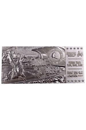 Jurassic Park Replica Mosasaurus Ticket Ticket (silver plated)
