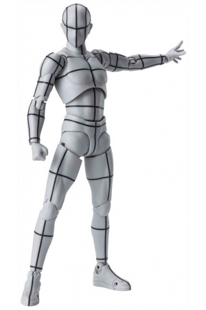 S.H. Figuarts Body Kun Action Figure Wireframe Gray Color Version 15 cm