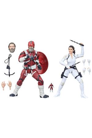 Black Widow Marvel Legends Action Figure 2-Pack 2021 Red Guardian & Melina 15 cm