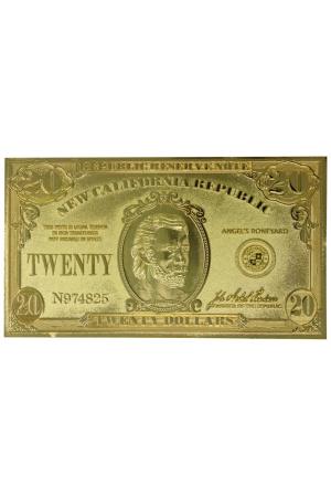 Fallout: New Vegas Replica New California Republik 20 Dollar Bill (gold plated)