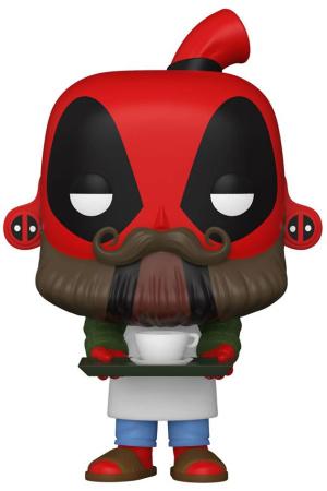 Marvel Deadpool 30th Anniversary POP! Vinyl Figure Coffee Barista Deadpool 9 cm