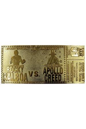 Rocky Replica 45th Anniversary Bicentennial Superfight Ticket (gold plated)