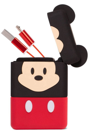 Disney PowerSquad Flip Retractable Cable 3in1 Mickey Mouse