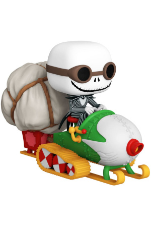 Nightmare before Christmas POP! Rides Vinyl Figure Jack w/Goggles & Snowmobile 18 cm