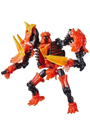 Transformers Generations War for Cybertron Deluxe Action Figure 2021 Tricranius Beast Power Excl.